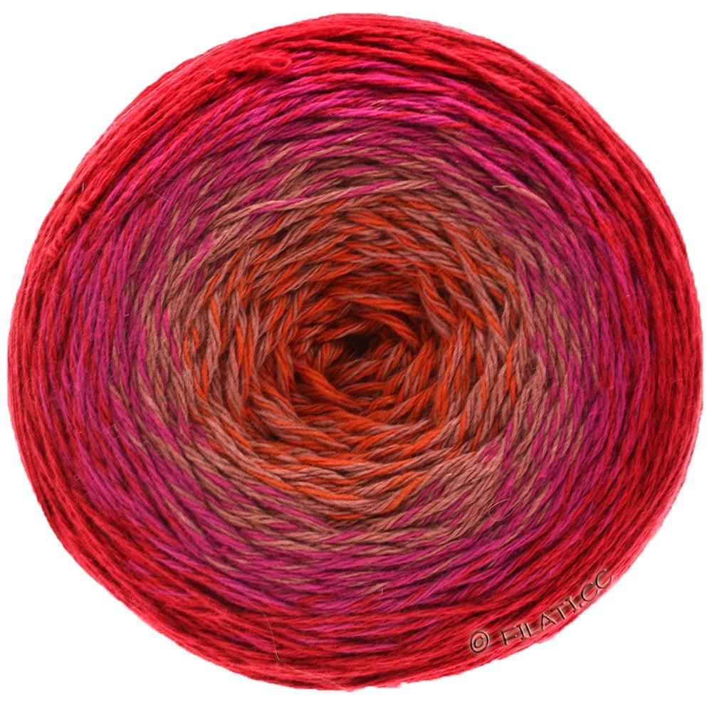 TWISTED MERINO Cotton - von Lana Grossa | 501-Koralle/Beige/Zyklam/Weinrot