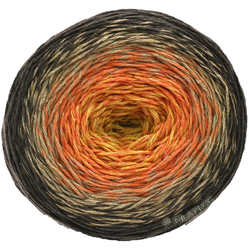 TWISTED MERINO Cotton - von Lana Grossa | 502-Gelb/Orange/Beige/Schwarzbraun