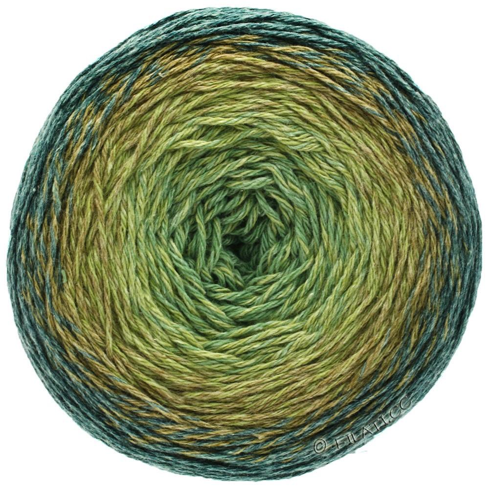 TWISTED MERINO Cotton - von Lana Grossa | 503-Graugrün/Heugelb/Khaki/Petrolgrün