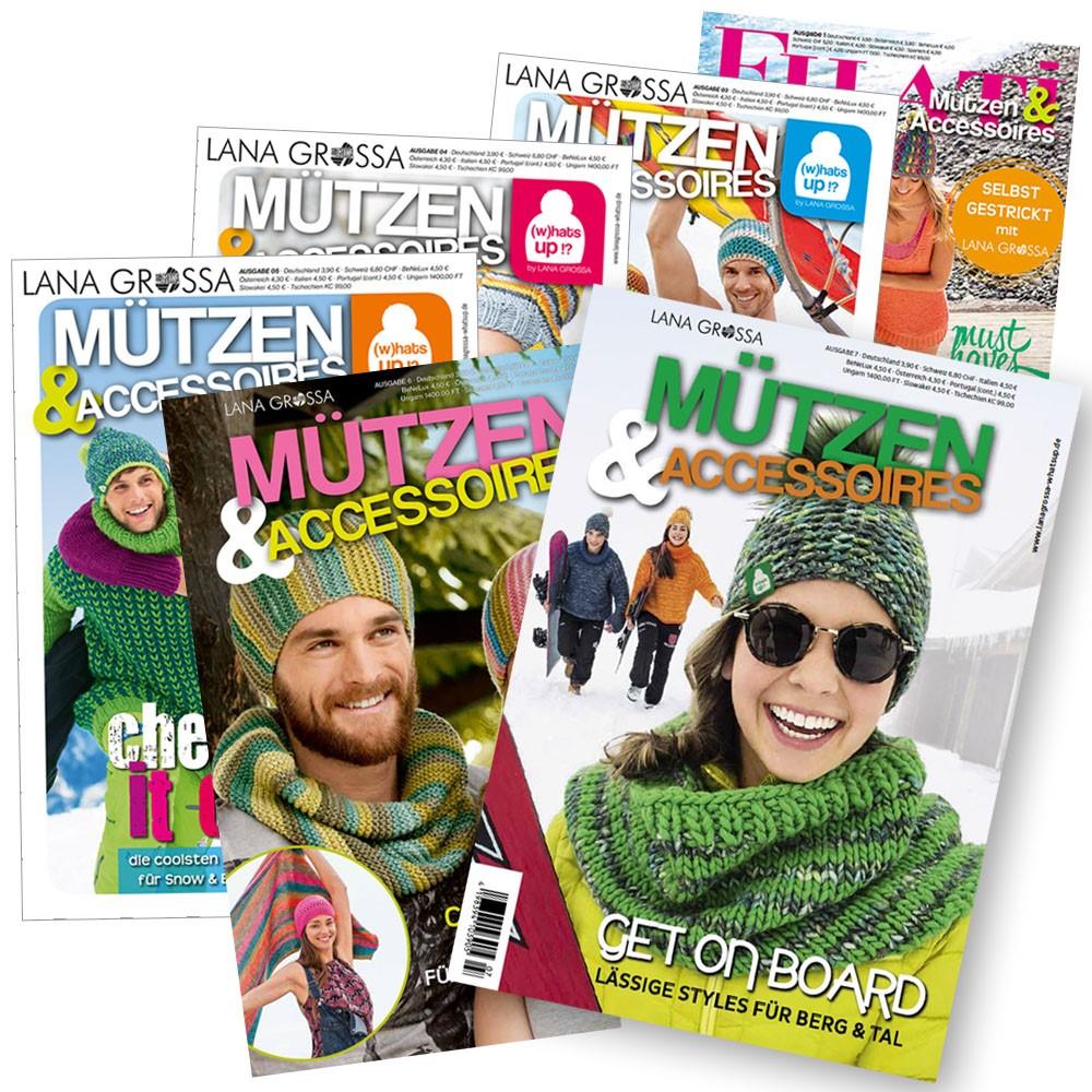 Mützen & Accessoires No. 1, 3, 4, 5, 6 & 7 von Lana Grossa
