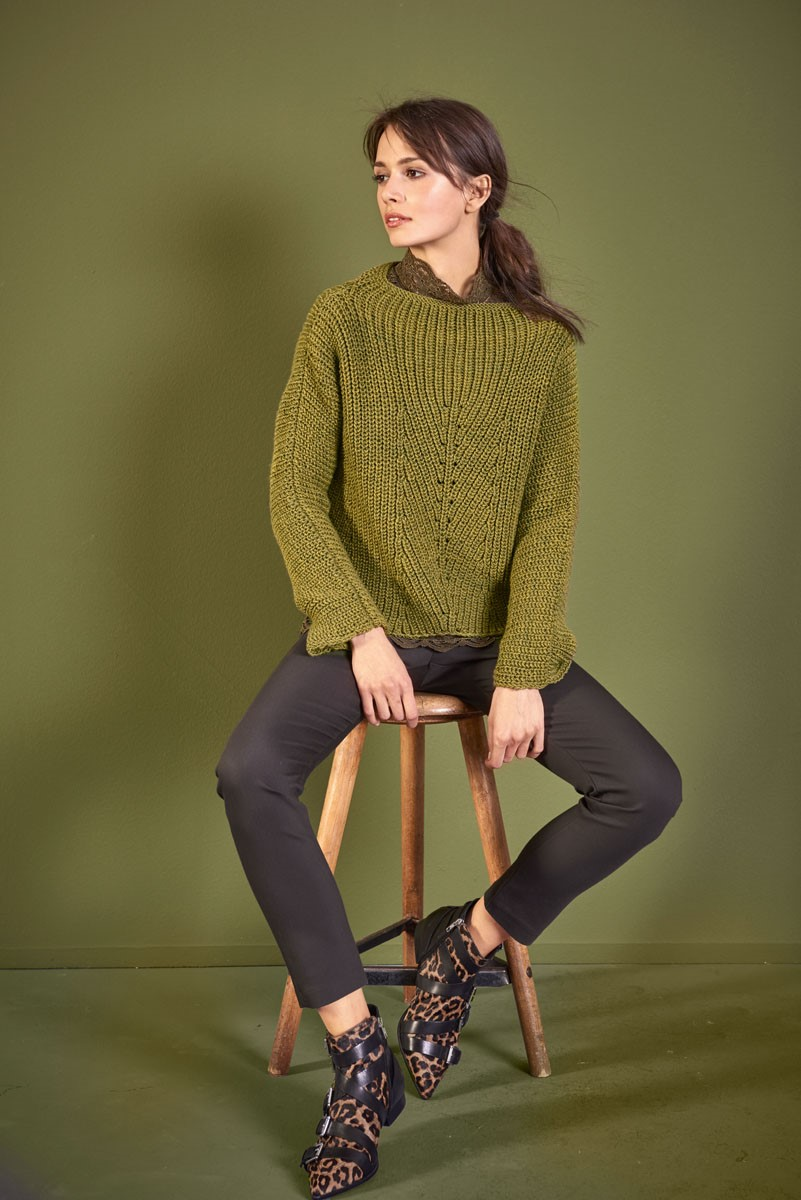PULLOVER Cool Wool Big Melange von Lana Grossa
