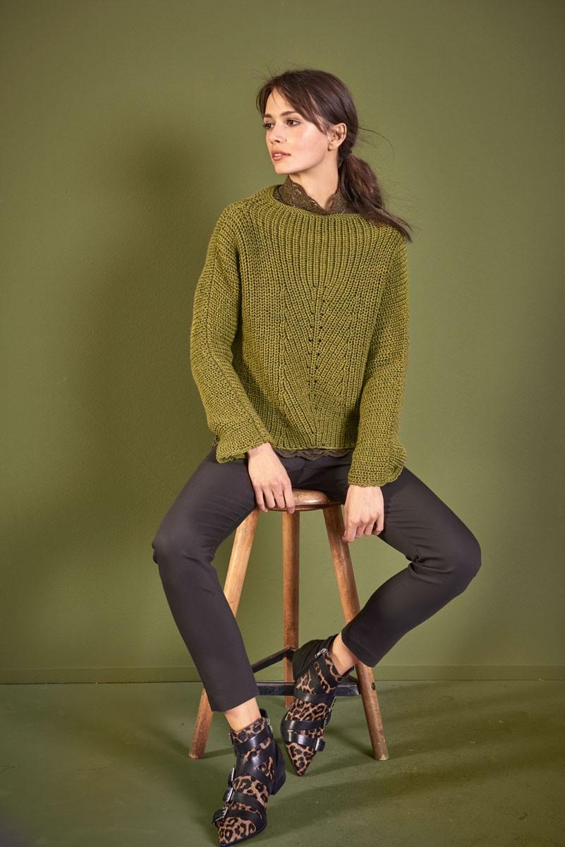PULLOVER Cool Wool Big Melange von Lana Grossa
