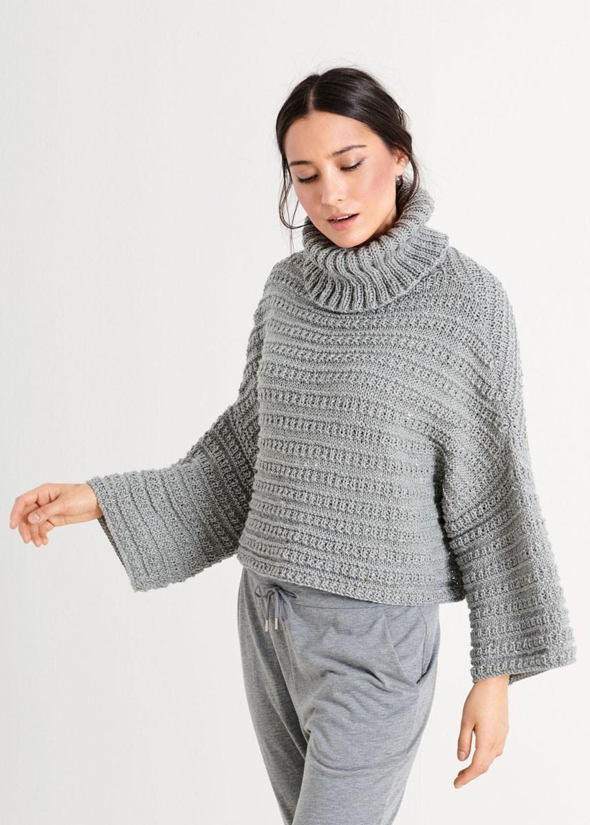 PULLOVER Slow Wool Canapa von Lana Grossa