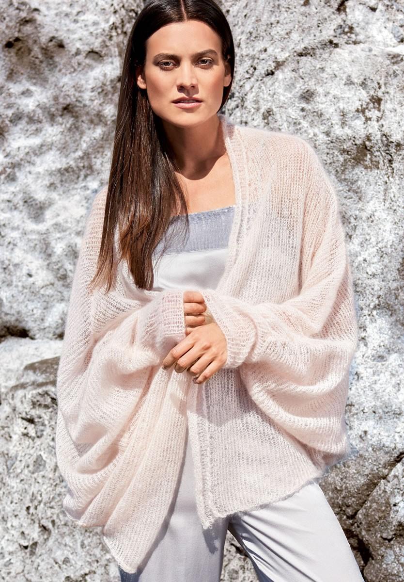 FLEDERMAUSPULLI GLATT RECHTS Silkhair von Lana Grossa