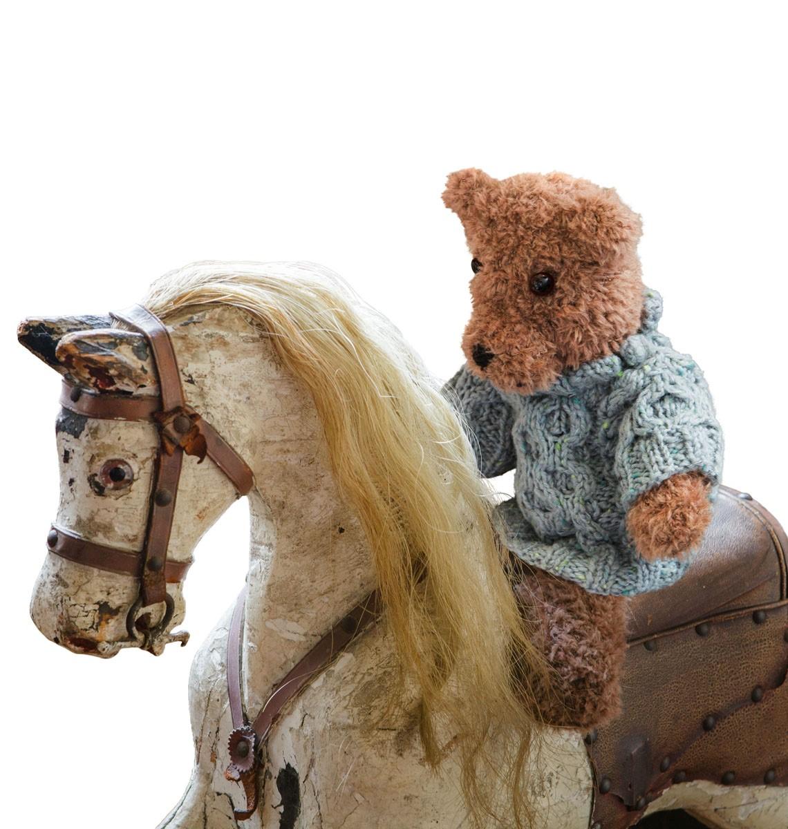 TEDDY IN FESTEN MASCHEN Micio von Lana Grossa
