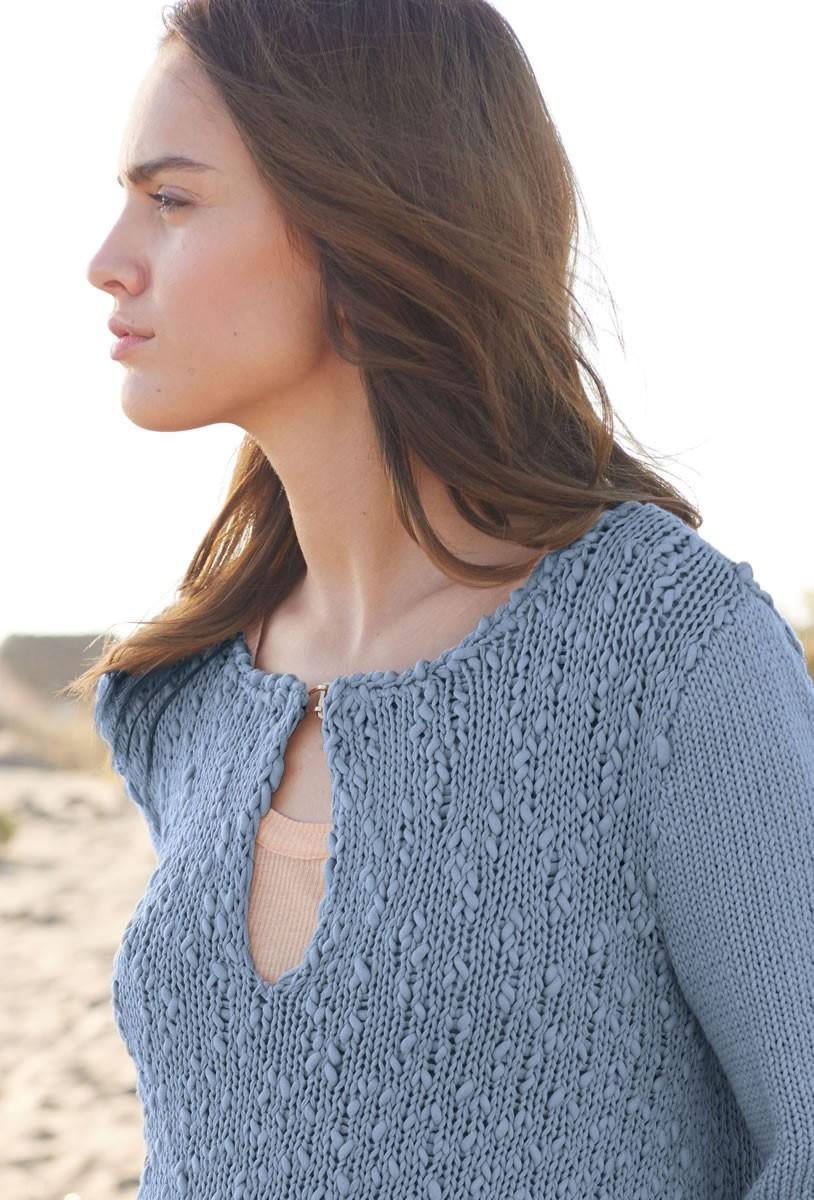 PULLI MIT SCHLITZEN Only Cotton/Cotton Style von Lana Grossa