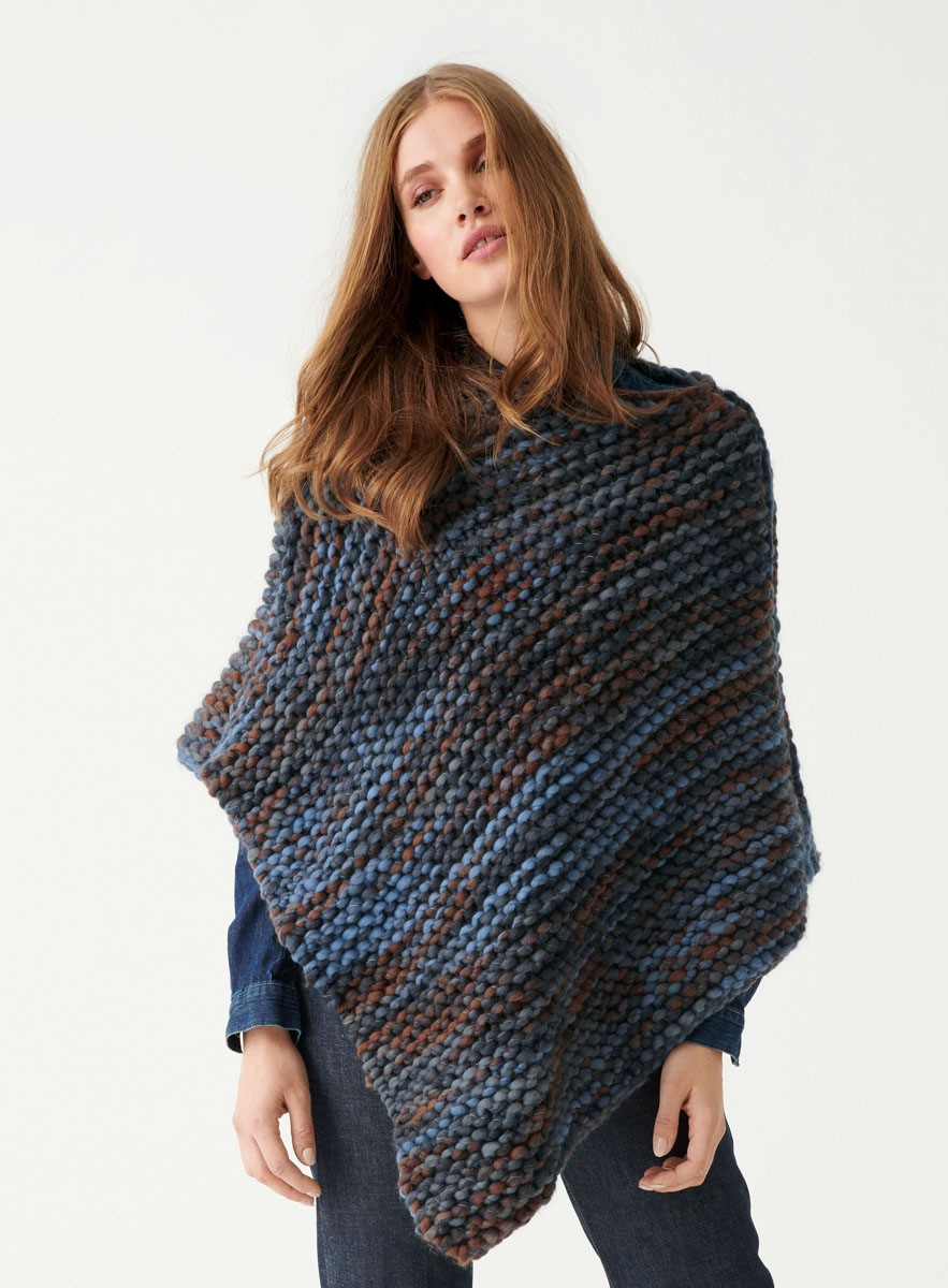 PONCHO KRAUS RECHTS Weekend Color von Lana Grossa