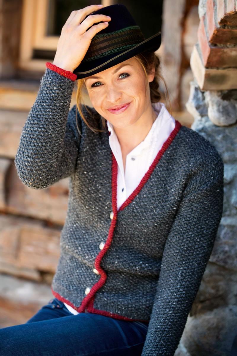 DAMENJACKE IM PERLMUSTER Royal Tweed von Lana Grossa