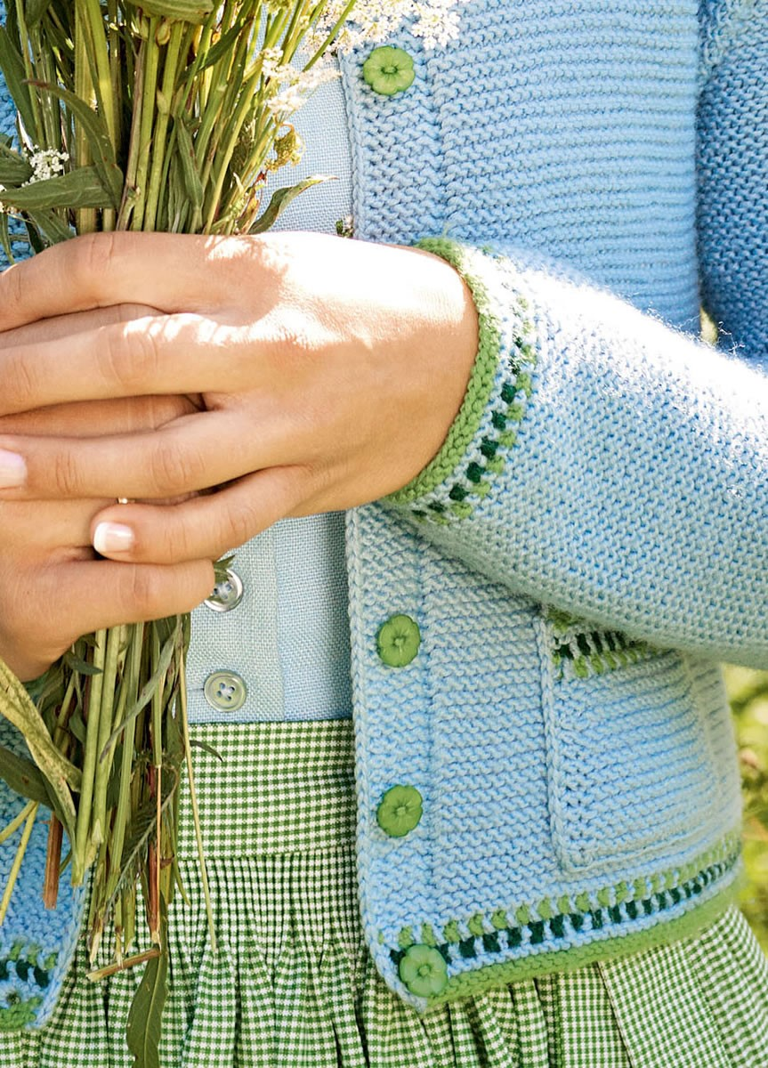 DAMENJACKE MIT JACQUARDBORDÜRE  Cool Wool Big von Lana Grossa