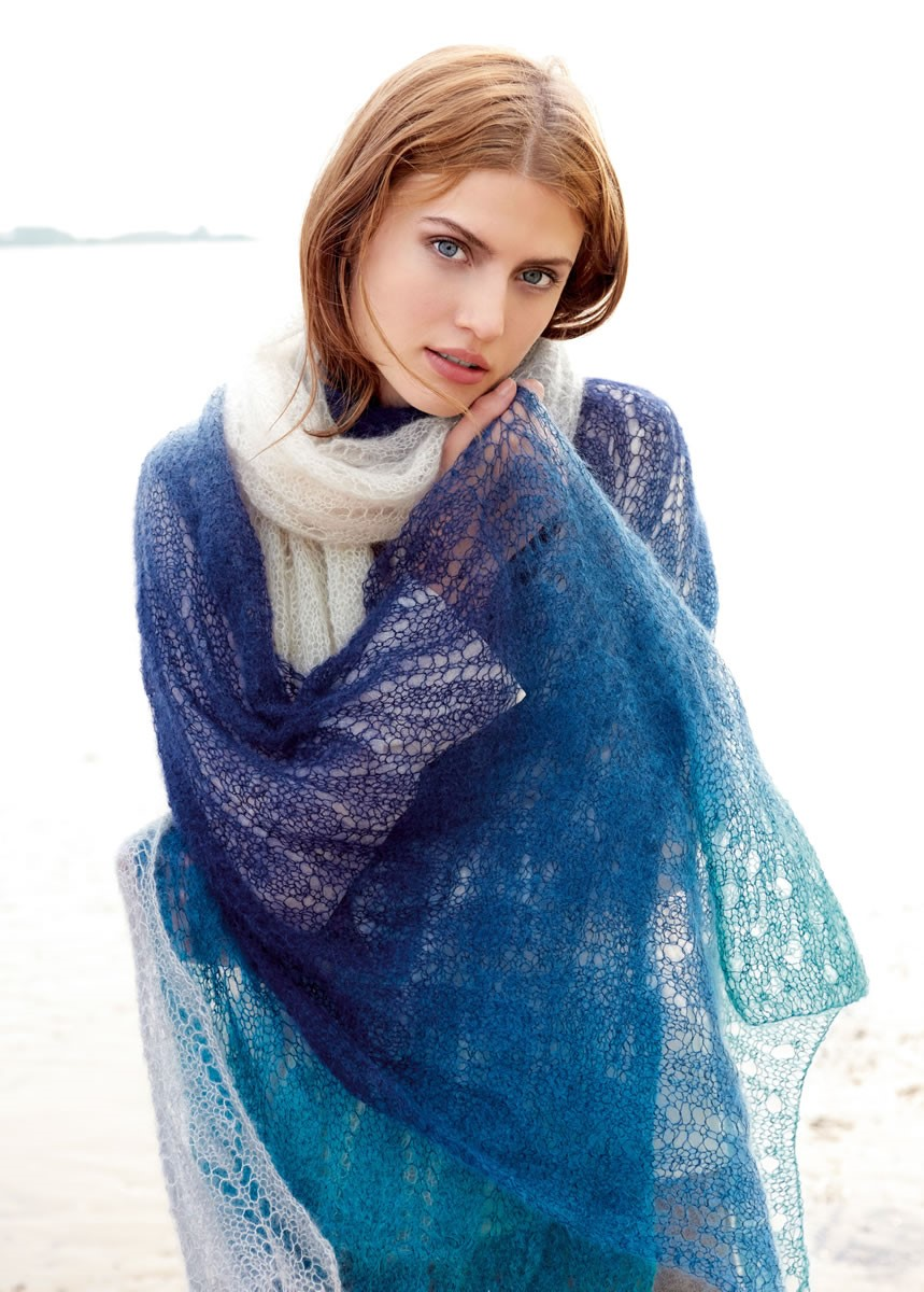 XXL-SCHAL Silkhair Degradè von Lana Grossa
