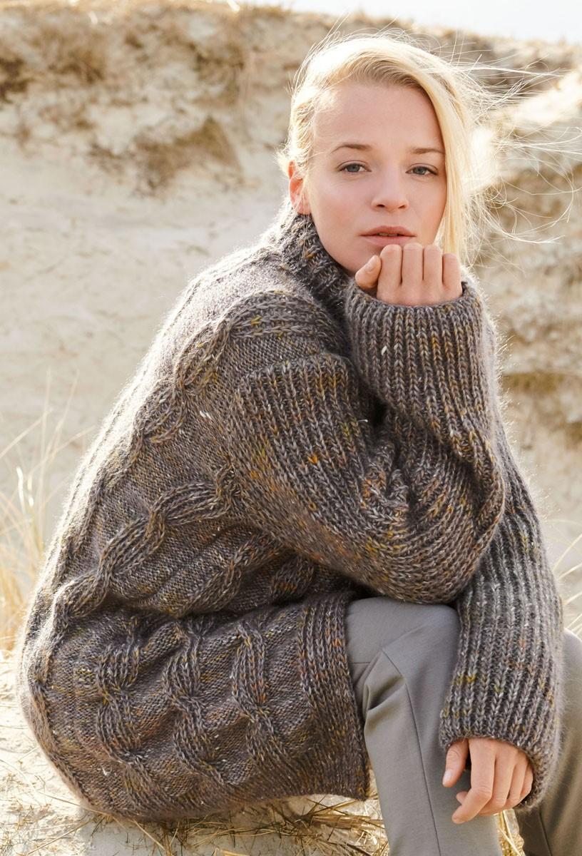 JACKE MIT HALBPATENTZÖPFEN Only Tweed/Silkhair von Lana Grossa