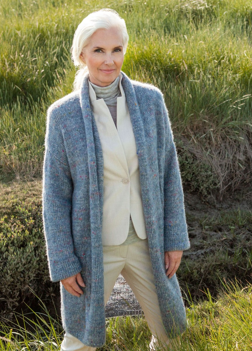 MANTEL Lala Berlin Lovely Fine Tweed von Lana Grossa