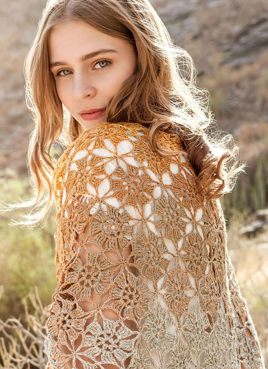DREIECKTUCH Shades of Cotton Linen von Lana Grossa