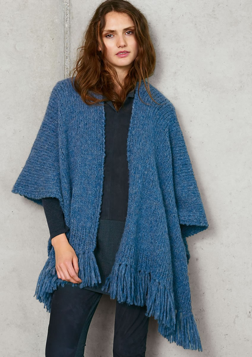 BASIC PONCHO Cloud von Lana Grossa