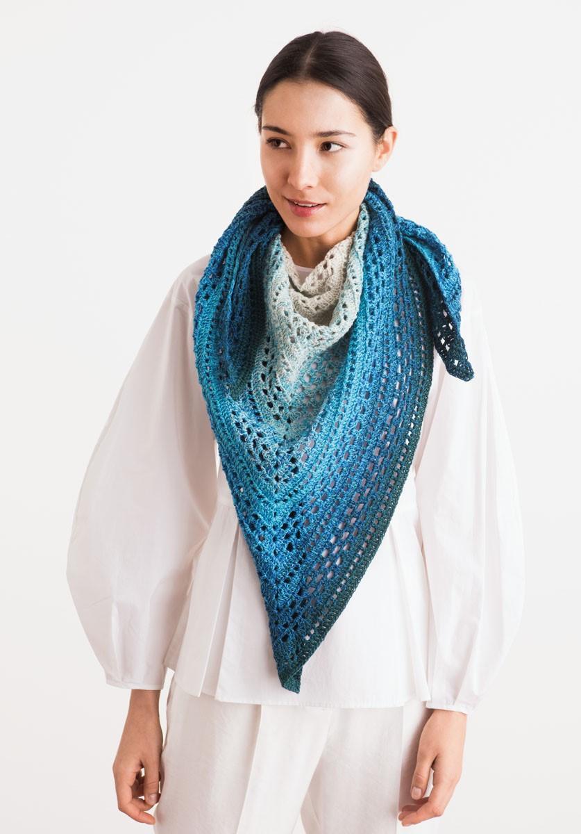 DREIECKSTUCH Shades of Merino Cotton von Lana Grossa