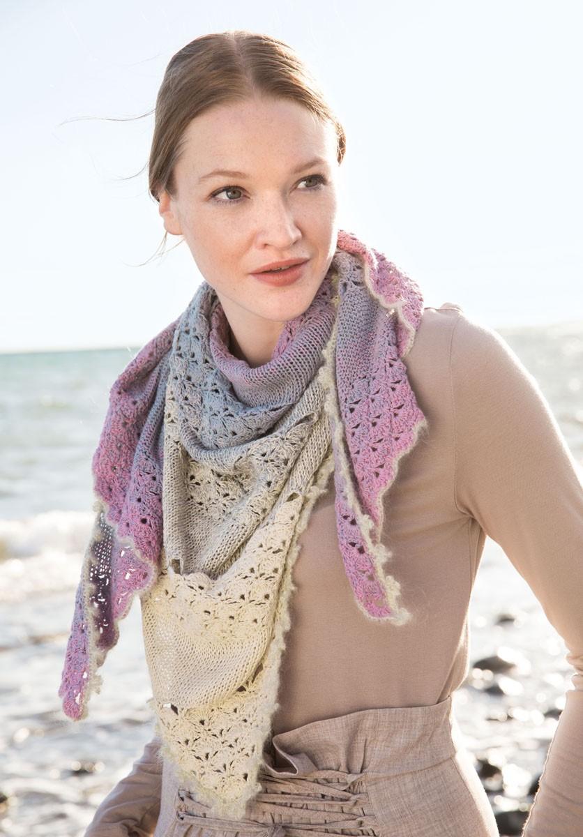 DREIECKTUCH Shades of Cotton Linen/Silkhair Lusso von Lana Grossa