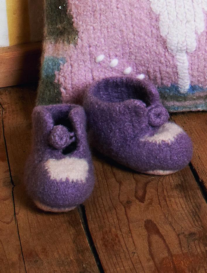 babyschuhe feltro strick filz no 9 modell 4 von lana grossa filati lana grossa modelle. Black Bedroom Furniture Sets. Home Design Ideas