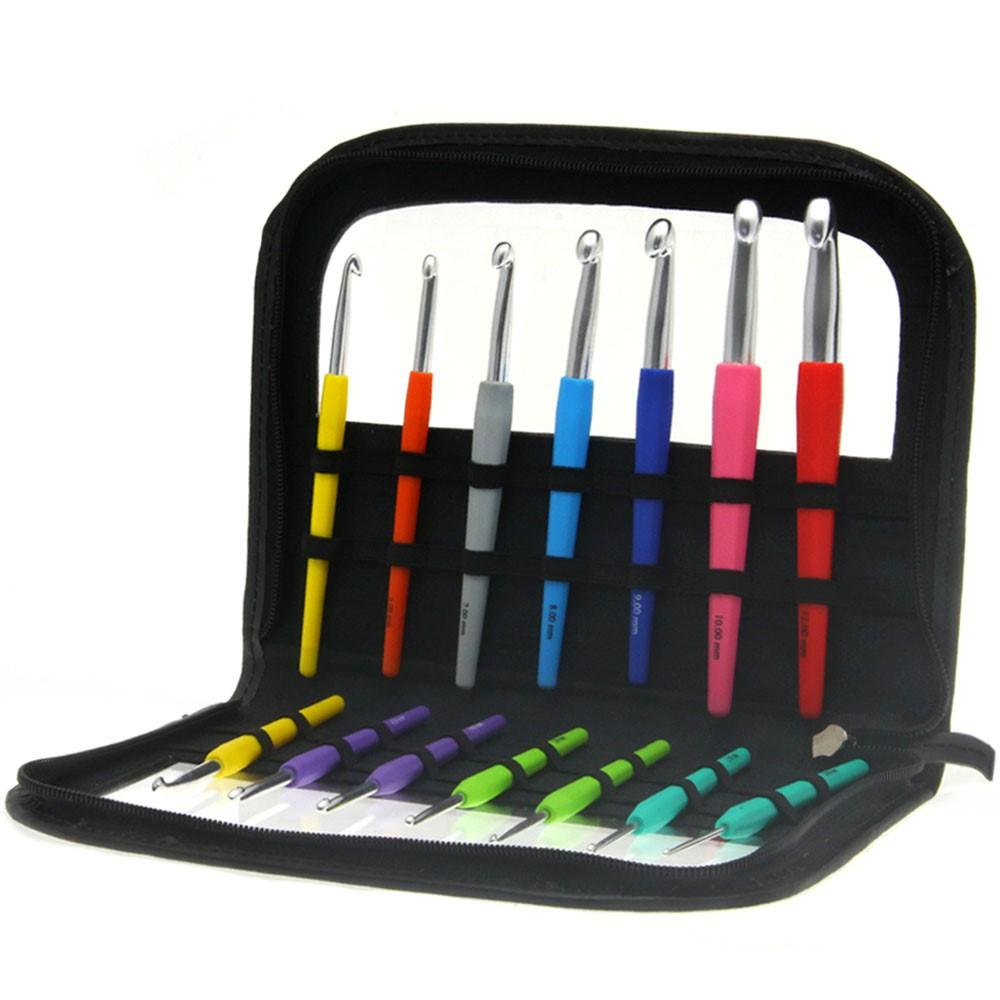Wollhäkelnadel-Set Design Color (mit Softgriff)  von Lana Grossa