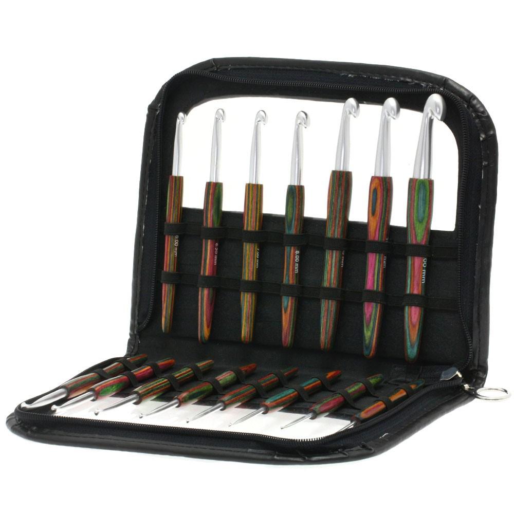 Wollhäkelnadel-Set Alu mit Holzgriff Design-Holz Color von Lana Grossa