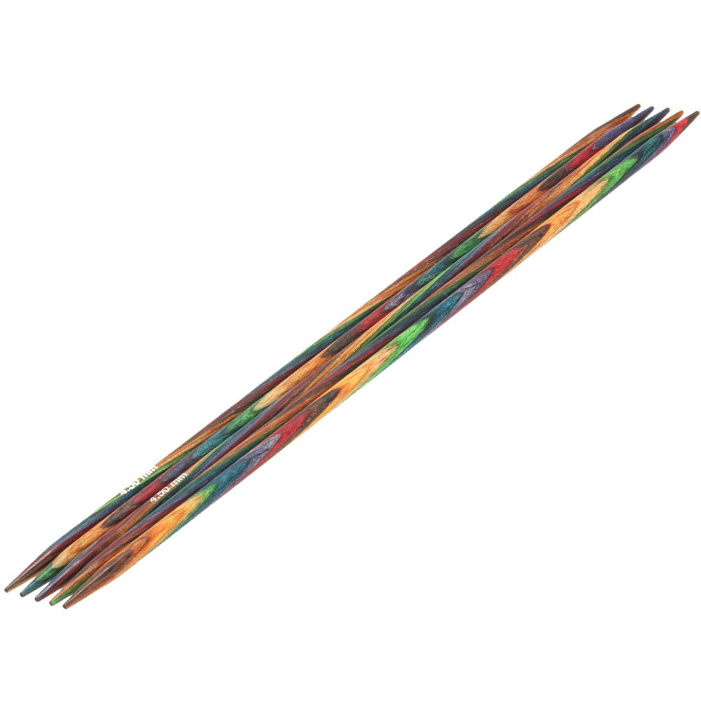 Nadelspiel Design-Holz Color St. 4,5/20cm von Lana Grossa