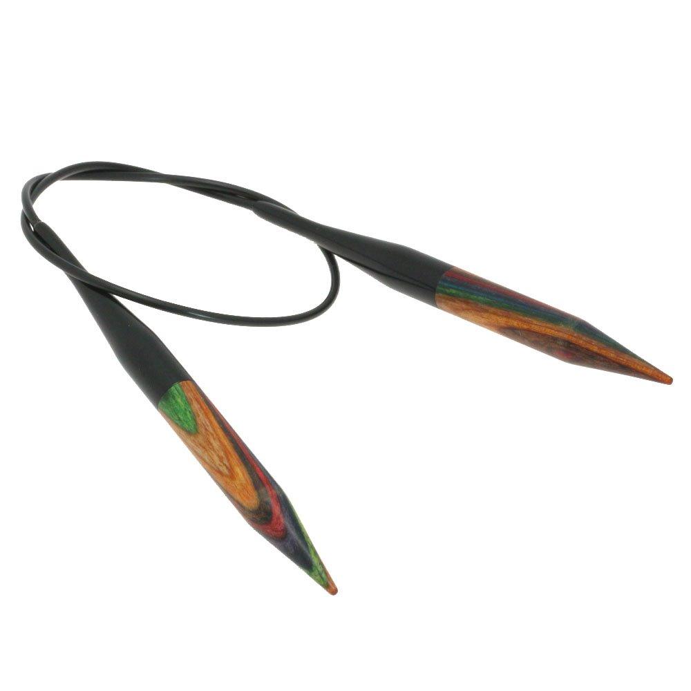 Rundstricknadel Design-Holz Color St. 8,0/40cm von Lana Grossa