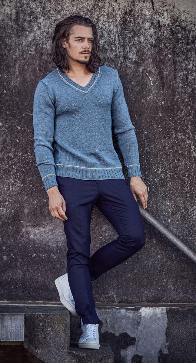 PULLOVER Cool Wool uni/melange von Lana Grossa