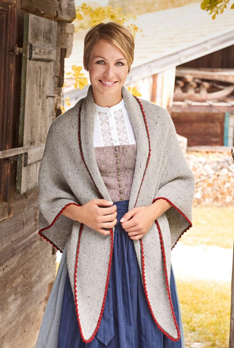 DREIECKSTUCH KRAUS RECHTS MIT PICOTRÄNDERN Meilenweit 6-fach/Cool Wool Big von Lana Grossa