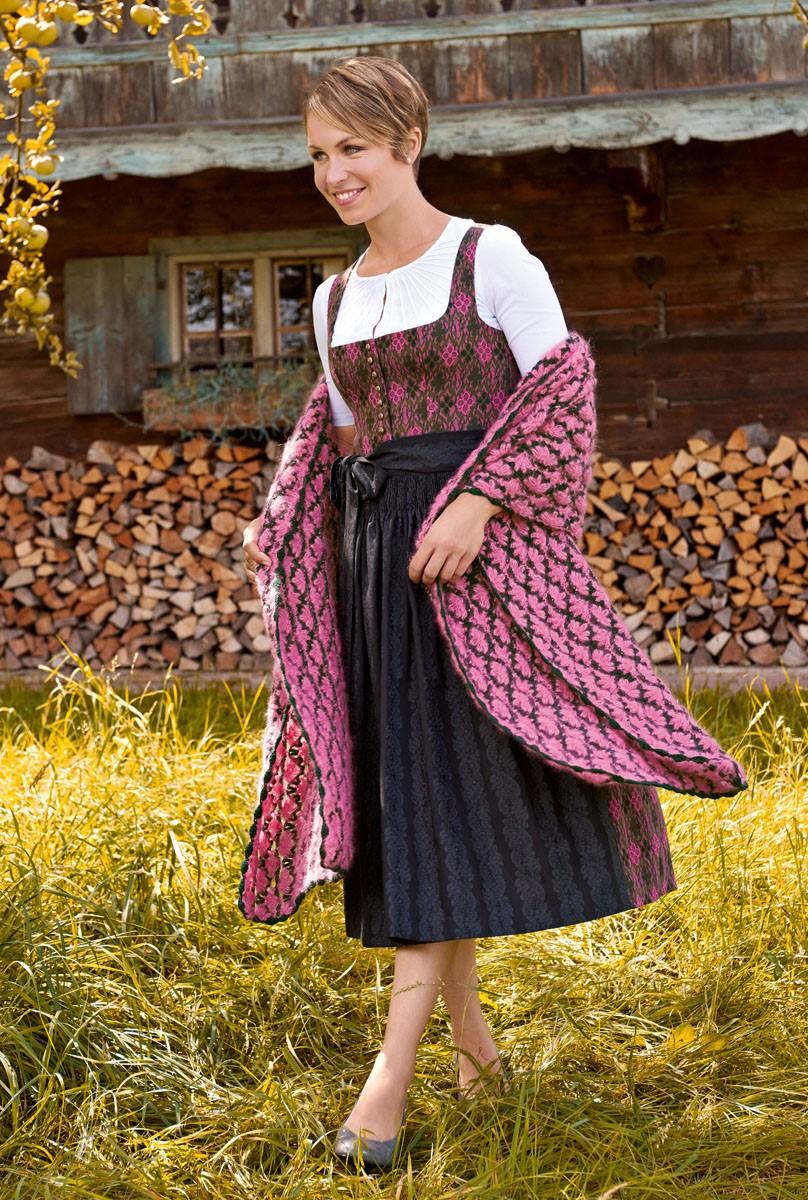 HÄKELTUCH IM MUSCHELMUSTER Silkhair/Cashmere 16 Fine von Lana Grossa