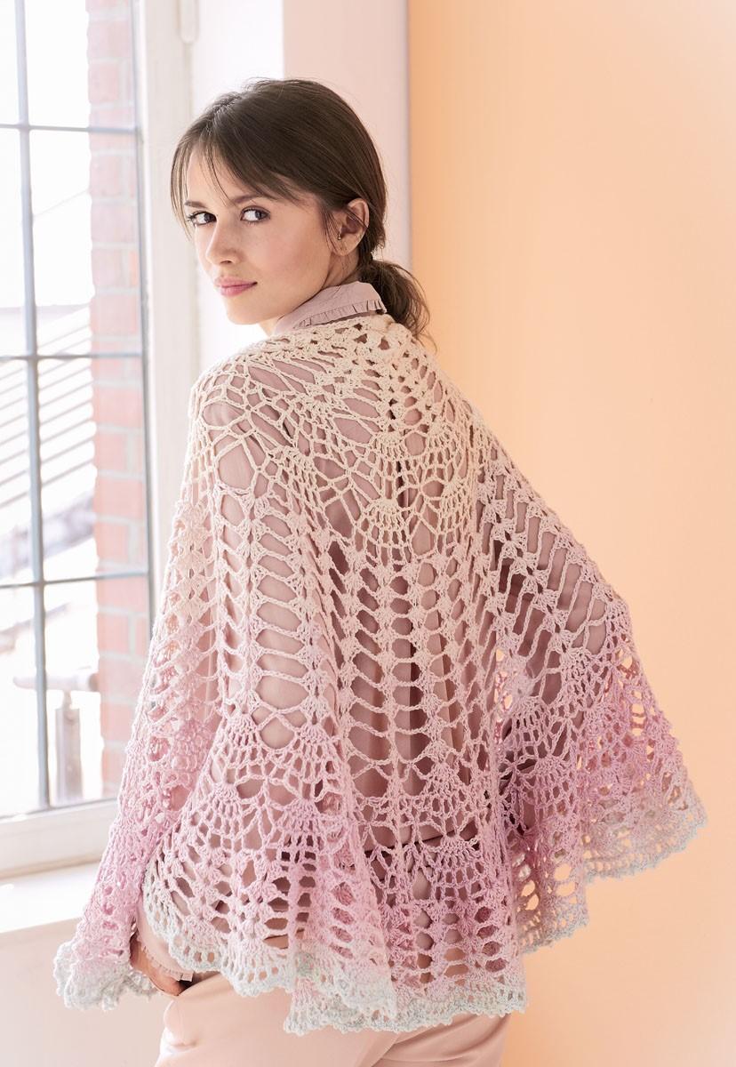 HALBRUNDES TUCH Shades of Merino Cotton von Lana Grossa